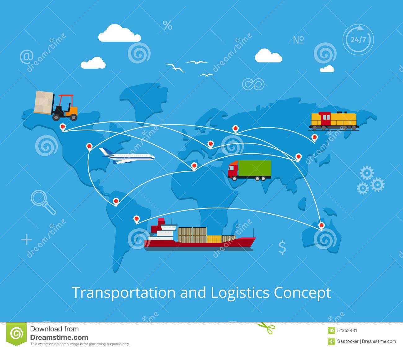 Logistics Stock Vector.