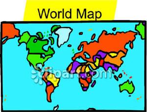 World Map Clip Art.