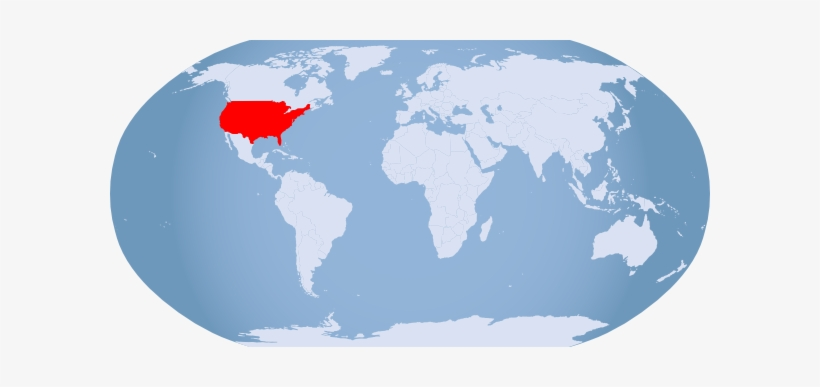 Usa On The World Map 15 Globe Highlighted Clip Art.