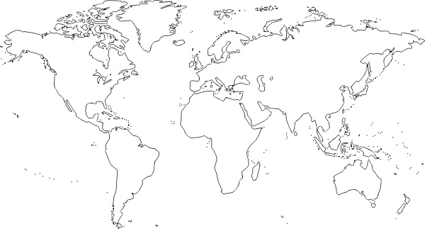 World Map clip art Free vector in Open office drawing svg.