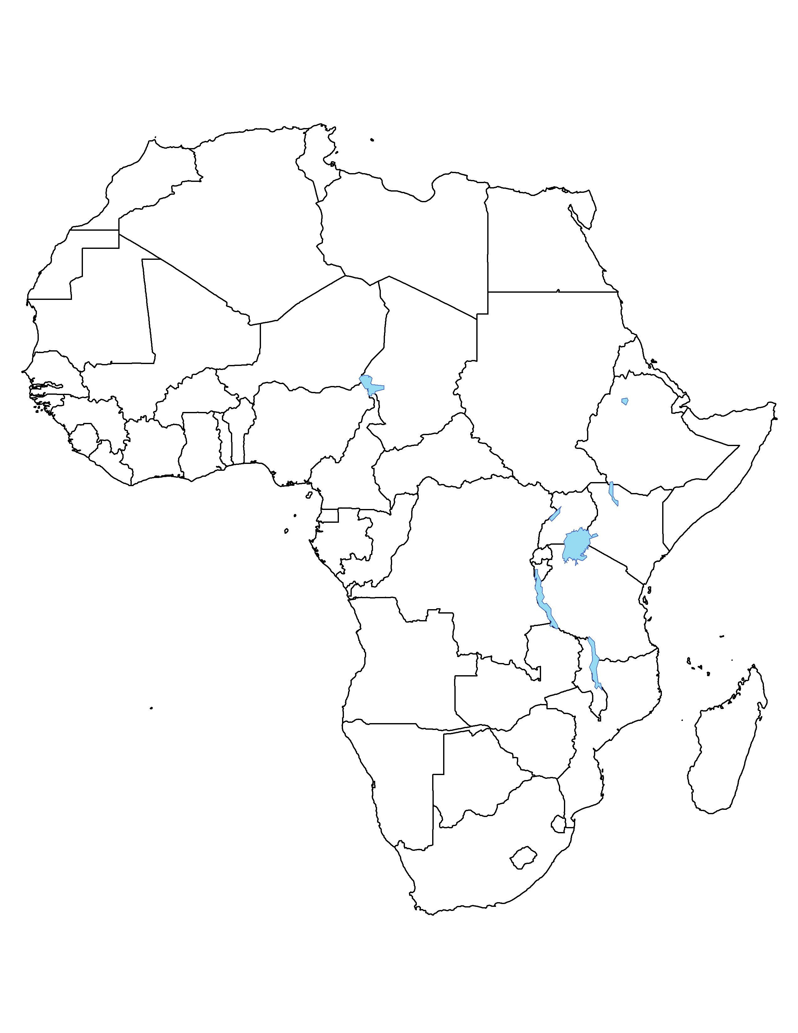 Blank Map Of Africa.