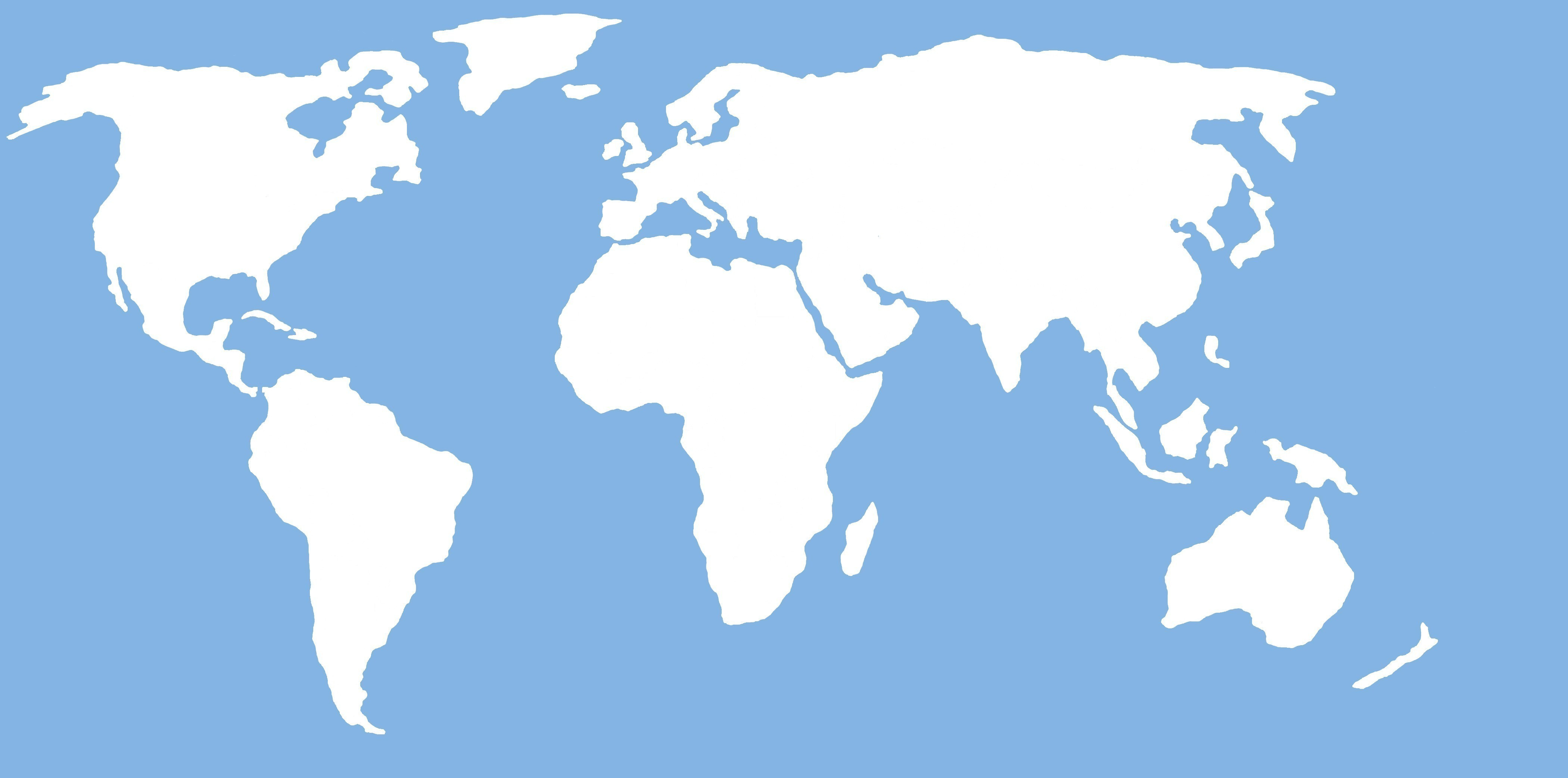 World Map Clipart Vector.