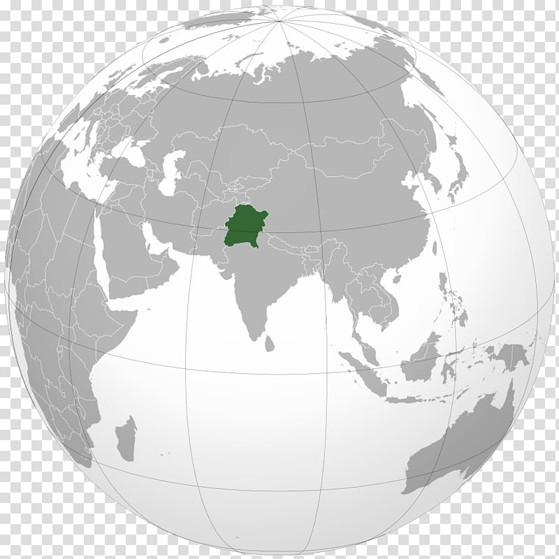 India Globe Map projection World map Orthographic projection.