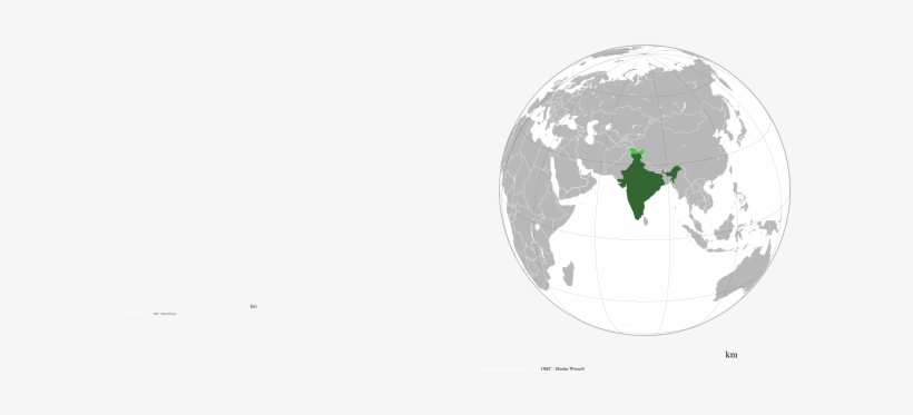 This Free Clipart Png Design Of India In World Map.