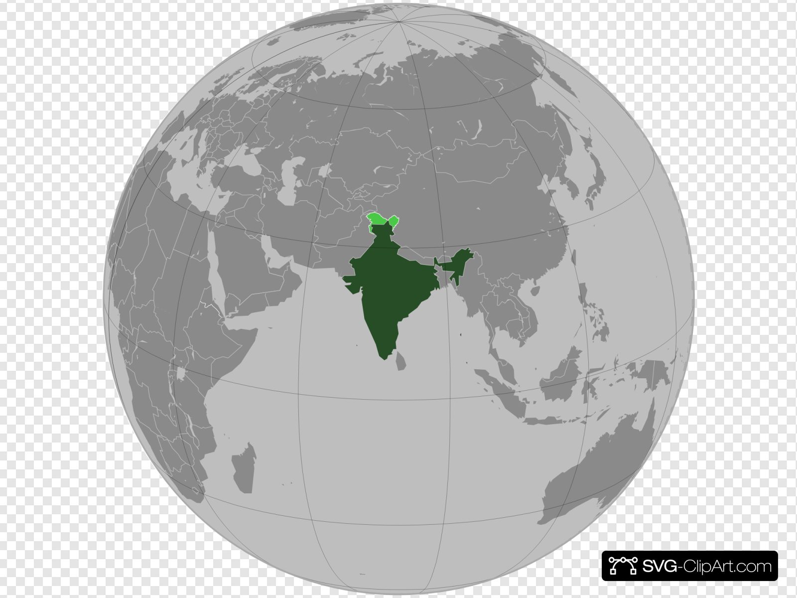 India In World Map Clip art, Icon and SVG.