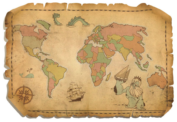 Free Antique World Map.