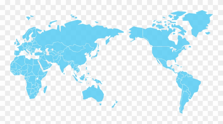 World Map Blue Png.