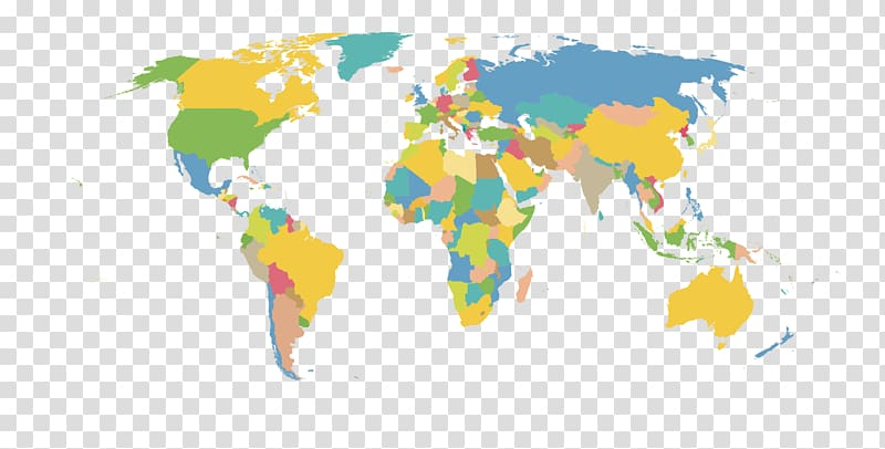 World map , HD material map of the world transparent.