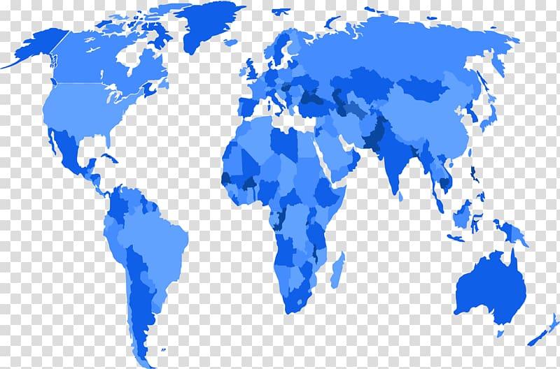 Turkey United States World map Icon, Distribution blue world.