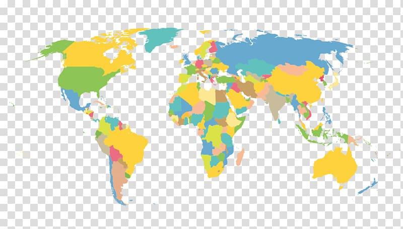 Earth Globe World map, Flat world map plane transparent.