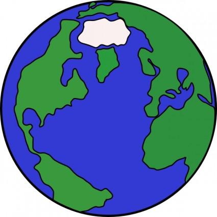 World Map Globe Clip Art.