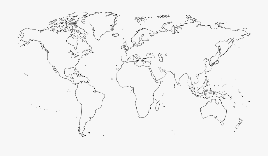 Map Clipart Black And White.