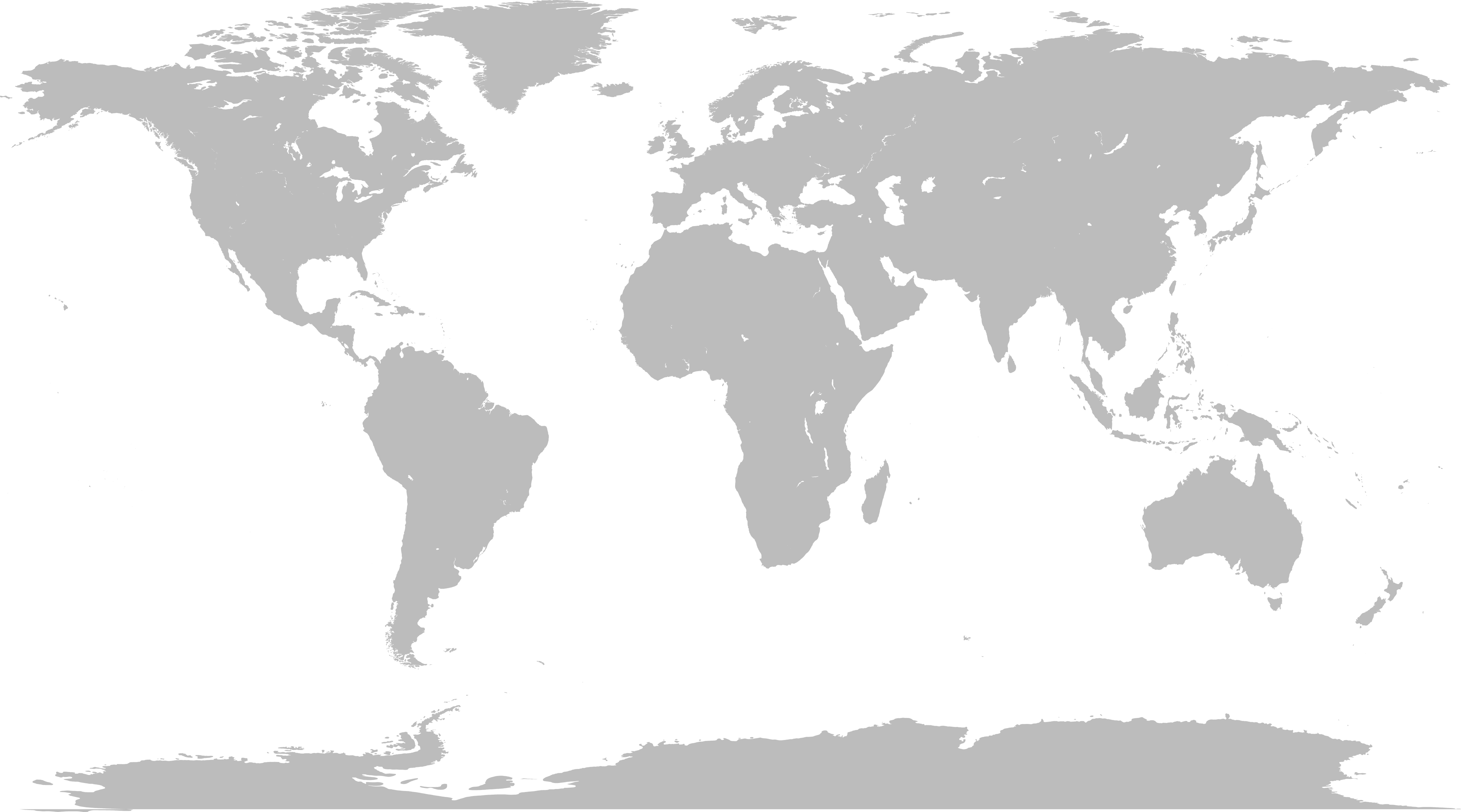 World Map PNG Photo.