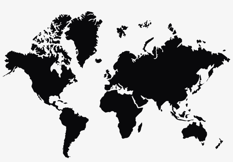 World Map Png Transparent Background.
