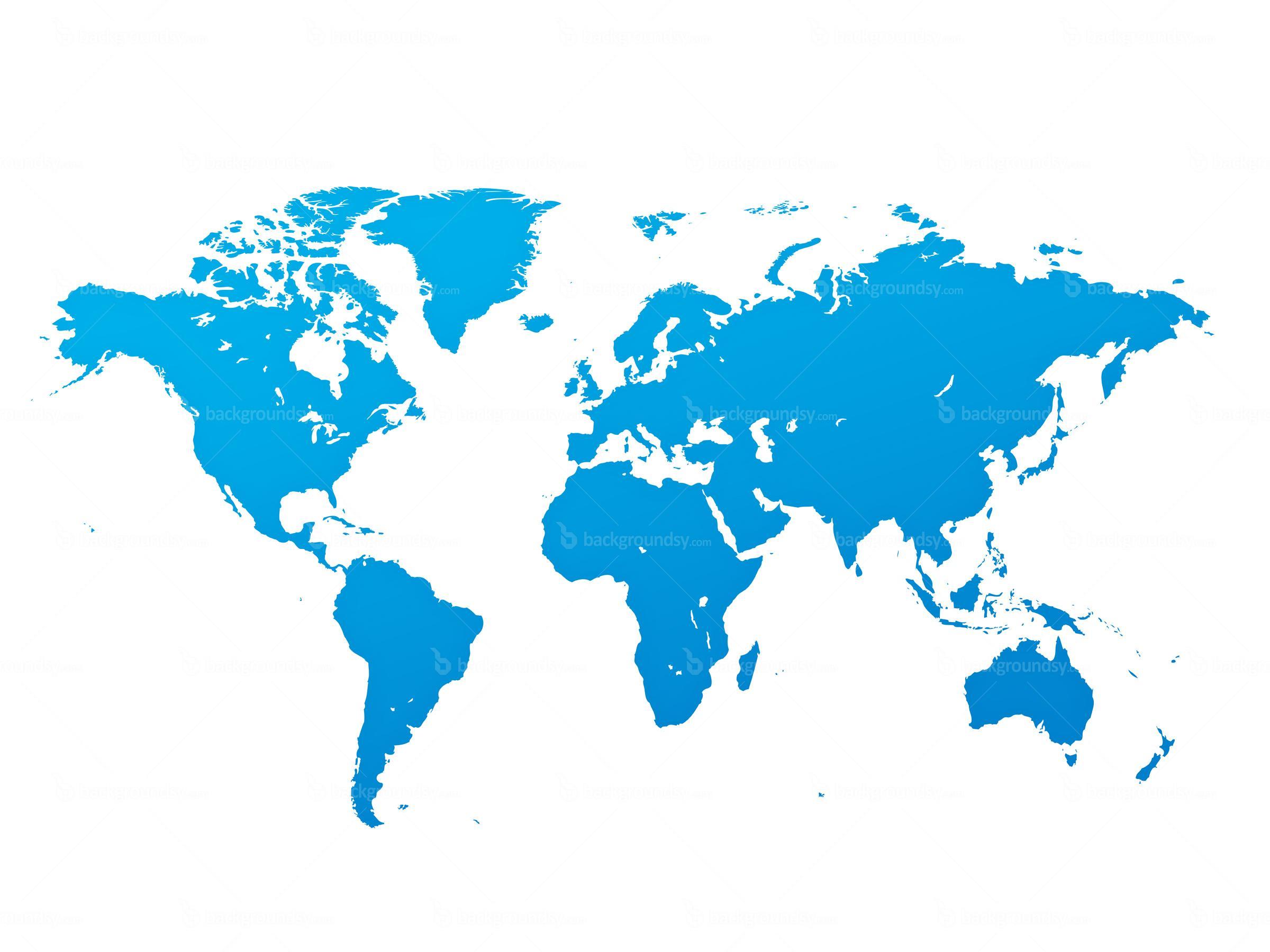World Map Blue Png Transparent Background (+).