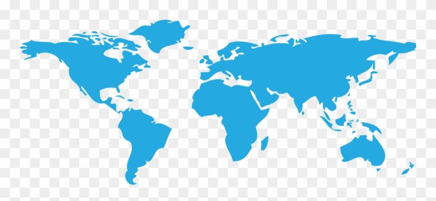 World Map Clipart Transparent.