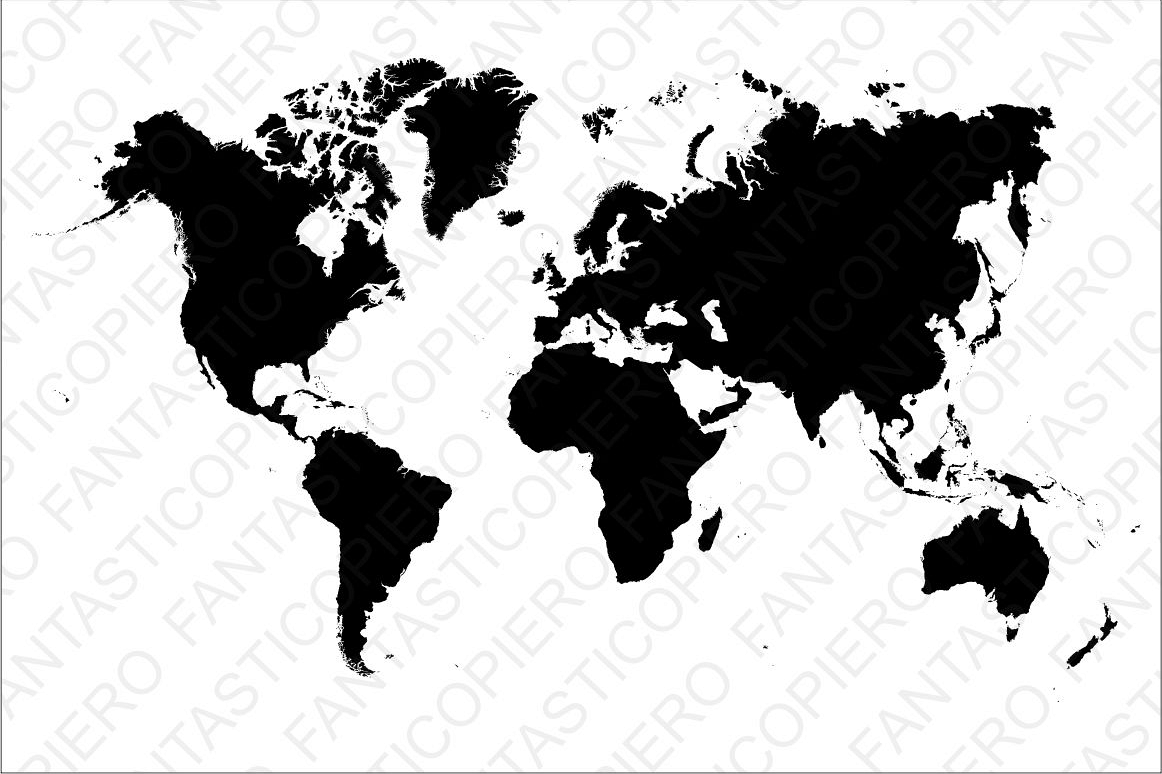 World map SVG file for Silhouette Cameo and Cricut..