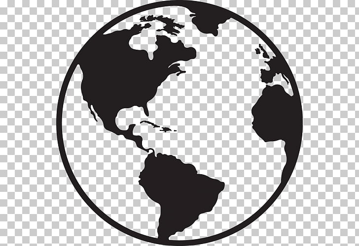 Globe World map, Lovable s, silhouette earth PNG clipart.