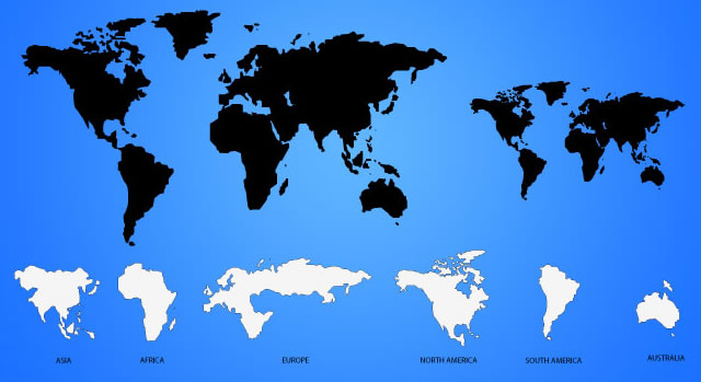 World Map Stencil Clipart Clipground