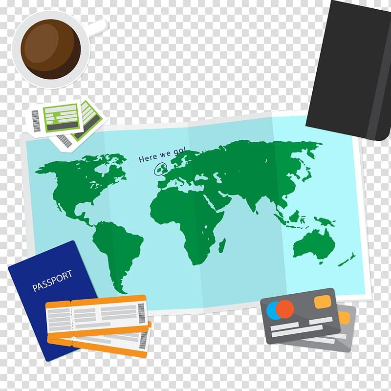 World map Globe, travel map illustration transparent.
