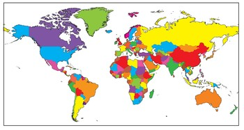 World Maps: MEGA BUNDLE Clip Art Countries and Maps of the World.