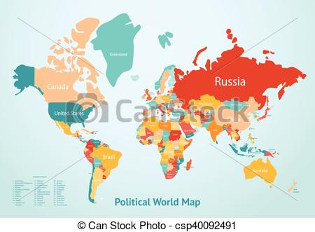Earth Map Countries.