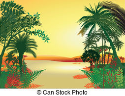 Vegetation world natural heritage Clipart Vector Graphics. 3.