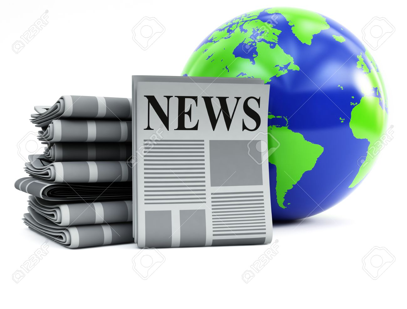 World And Newspapers Stock Photo, Picture And Royalty Free Image.