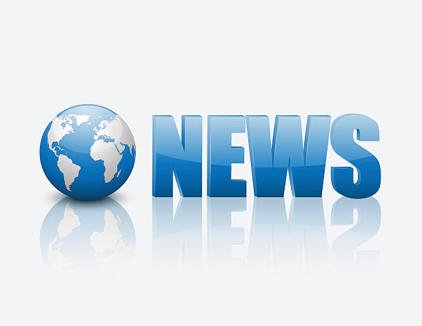 World News Words On Newspaper Clip Art, Vector Images.