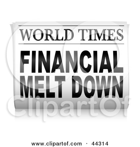 Newspaper Clip Art Financial.