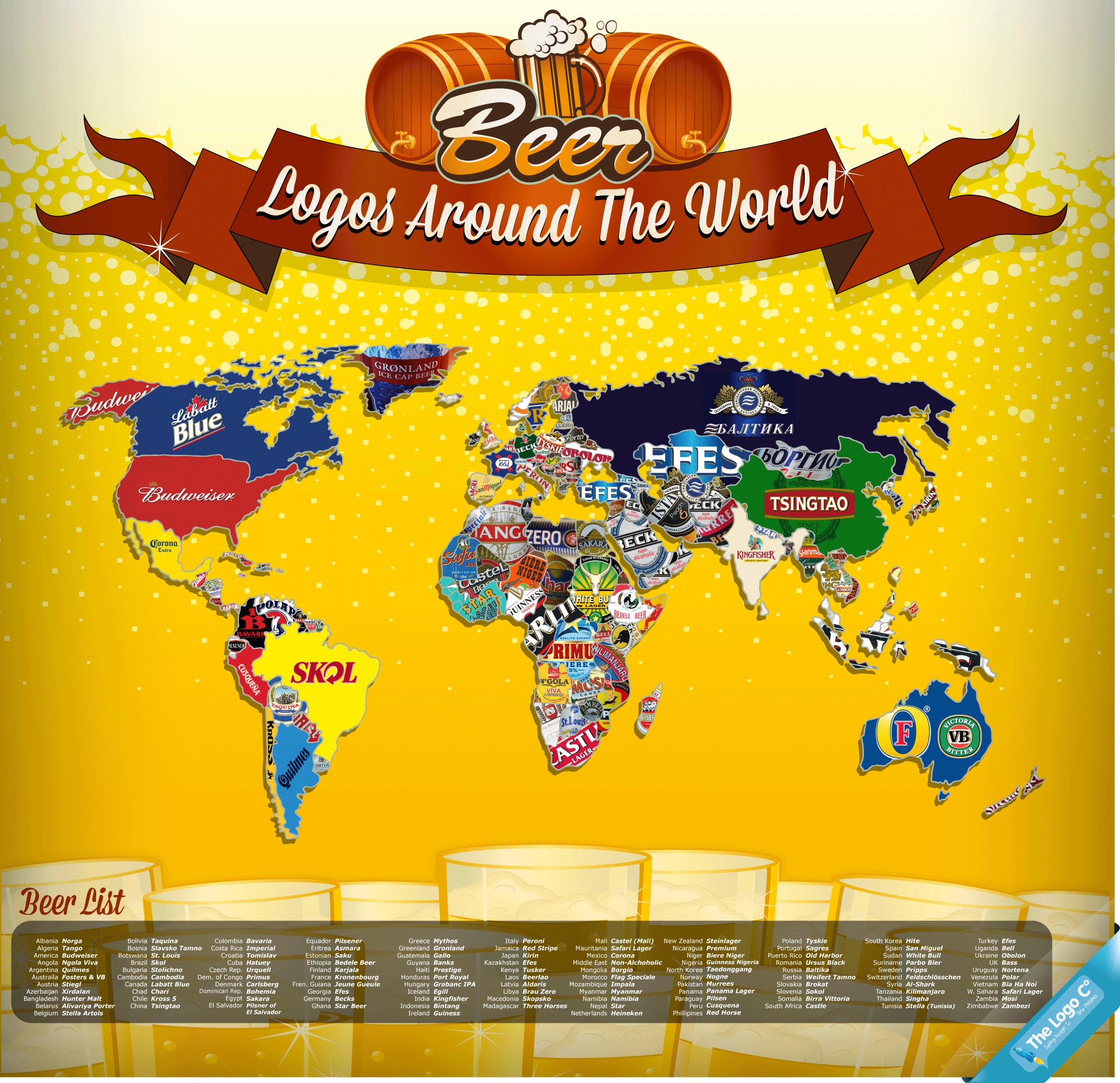 Beer Logos Around The World.