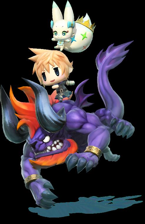 HD World Of Final Fantasy Mirages Transparent PNG Image Download.