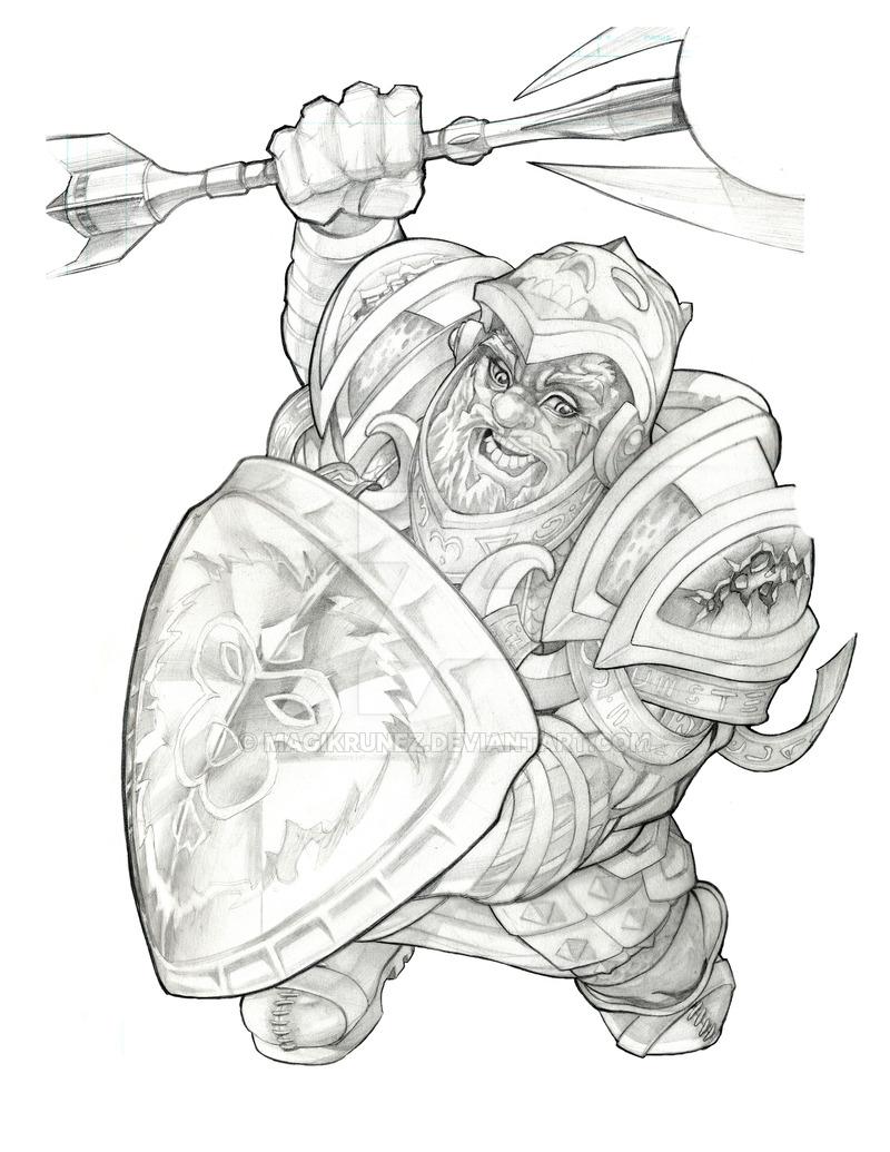 World of Warcraft Dwarf by Magikrunez on DeviantArt.