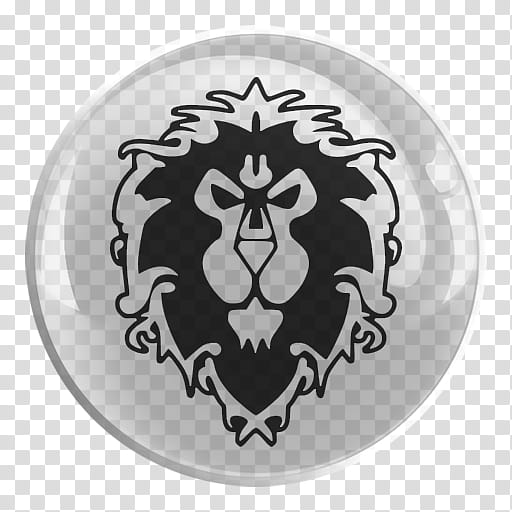 World of Warcraft Glass Icon , WoW Alliance, lion logo art.