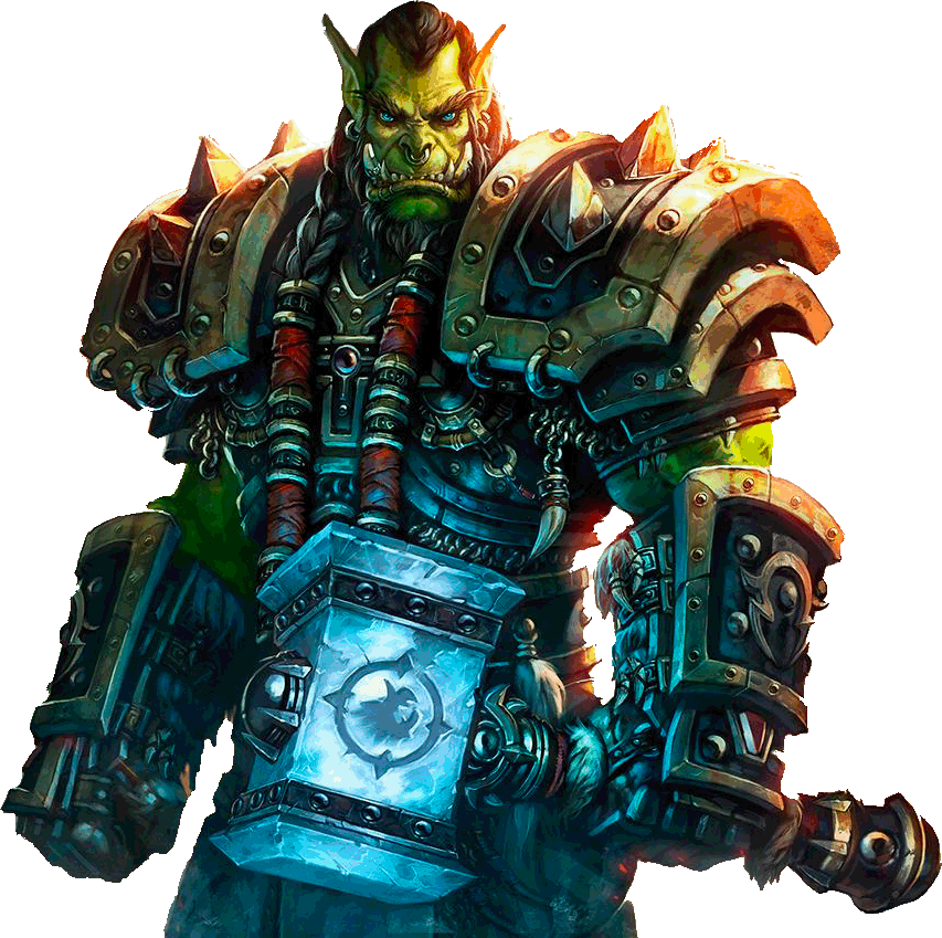 World Of Warcraft Thrall Close Up transparent PNG.