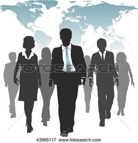 Clip Art of World work force business people human resources.