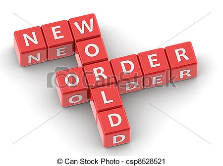 Clipart of Buzzwords: new world order.