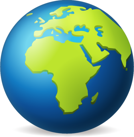 Earth Globe Europe Africa Emoji.