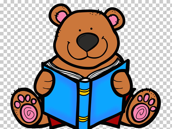 Bear Book Reading , World Poetry Day PNG clipart.