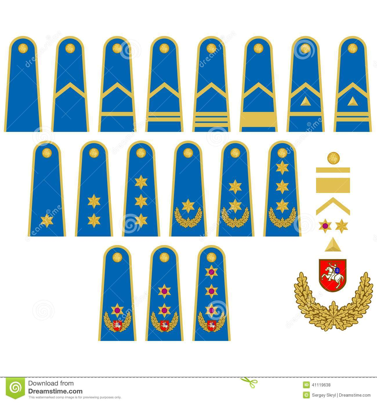 Lithuanian Air Force Insignia Stock Vector.