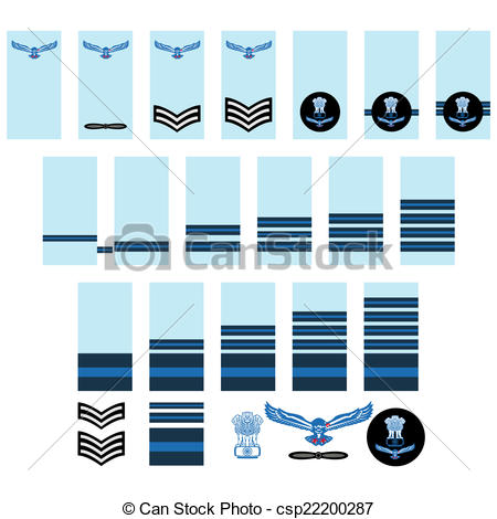 Vector of Indian Air Force insignia.
