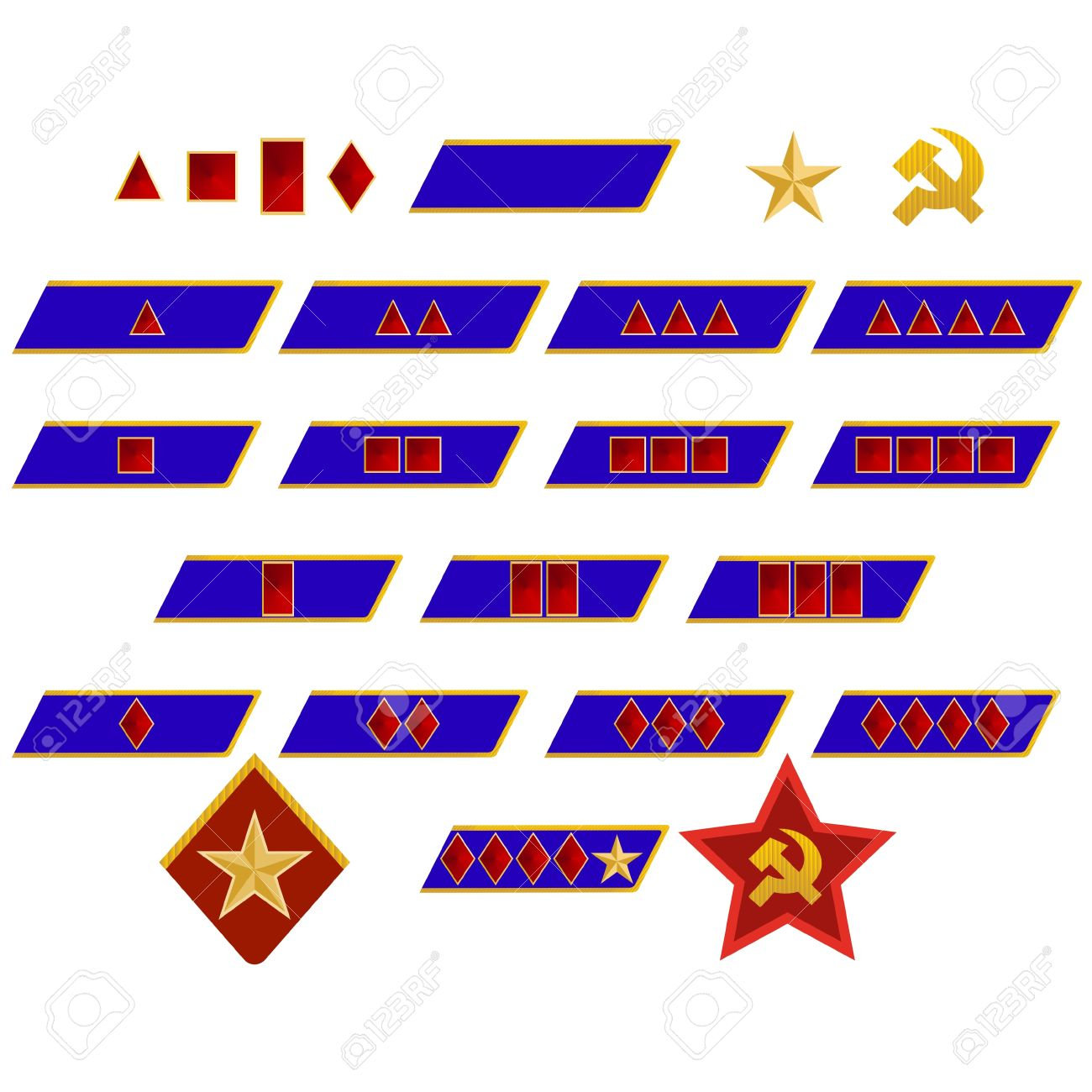Military Ranks And Insignia Of The World The Illustration On.