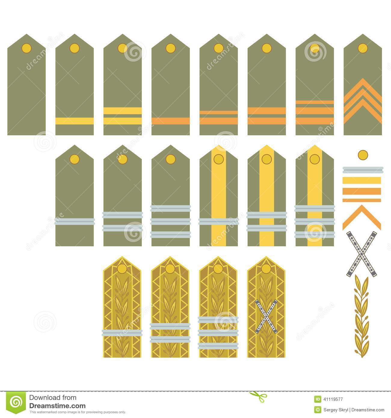 Insignia Of The Romanian Army Stock Vector.