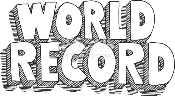 World Record Lettering Drawing stock vector art 165927454.