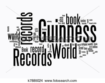 Drawings of guinness world record text clouds k7885024.