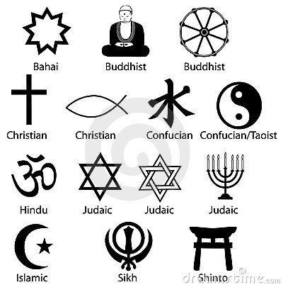 World Religion Symbols.