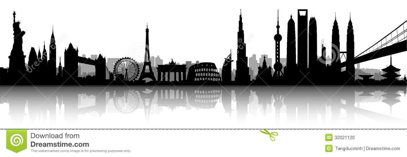 World Skyline Silhouette.