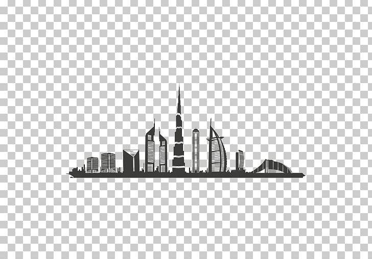 Dubai Skyline Silhouette Black And White PNG, Clipart, Dubai.