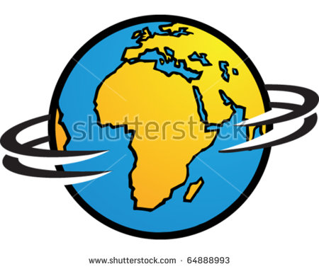 World Spinning Stock Vector 64888996.