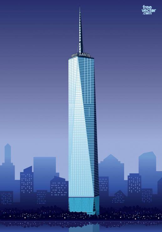 One World Trade Center Vector.